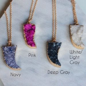 Druzy Tusk Necklace
